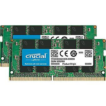 Crucial CT2K16G4SFD8266 32 Go Portable Memory Kit, (16 Go x2) Dual Rank, DDR4, 2666 MT/s, PC4-21300, SODIMM, 260-Pin