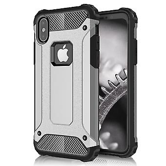 Shell pour Apple iPhone X Grey Hard Armor Protection Case