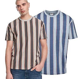 كلاسيكيات الحضرية - قميص شريطجريء كبير الحجم