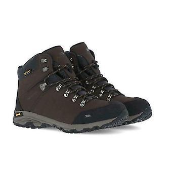 Mens Trespass Gerrard Hiking Boots Couro Impermeável