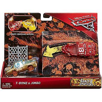 2-Pack Cars 3 Bilar Crazy 8 Crashers Jimbo & T-Bone