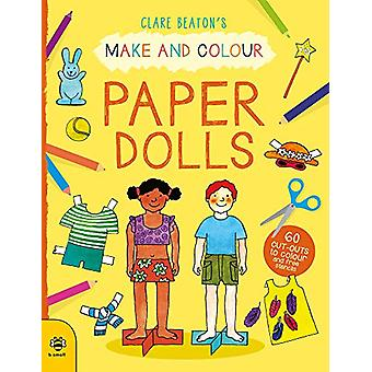 Make & Colour Paper Dolls - 60 Cut-Outs to Colour and Free Stencil