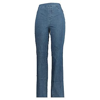 Isaac Mizrahi Live! Dames's Jeans Tall 24/7 Straight Leg Blue A297723 PTC