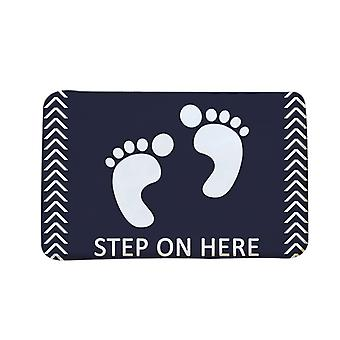Non-slip door mat, 3D carpet, dirt trap washable washable door mat, entrance bathroom door mat