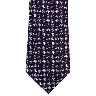 Michelsons de Londres pinho pequena gravata poliéster - roxo