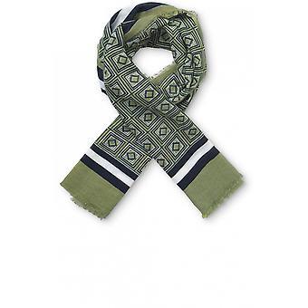 Masai Vêtements Alba Olive Graphic Design Écharpe