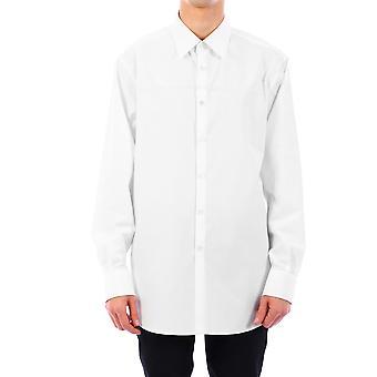 Valentino Tv3aba955un0bo Männer's weißes Baumwollhemd
