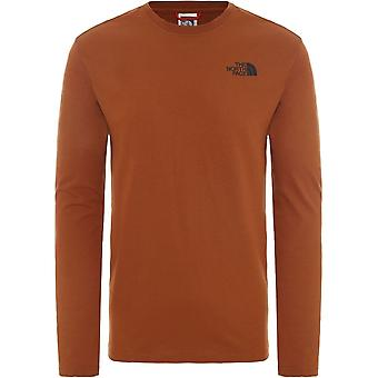 North Face Red Box T9493LUBT universal all year men t-paita