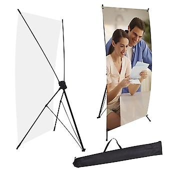 """2pcs 24""""x63"""" X Banner Stand w/ Bag Tripod Trade Show Sign Display Poster Holder"""