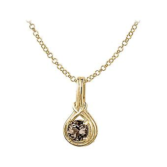 Jacques Lemans - Chain sterling silver plated with Smoky Quartz - SE-C107N
