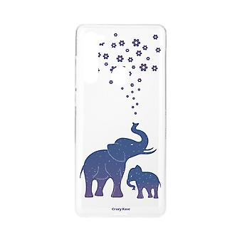 Hull For Xiaomi Redmi Note 8 Soft Blue Elephant