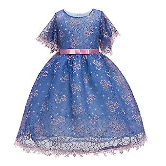 Elegant Lace Girls Dresses Fashion Gown