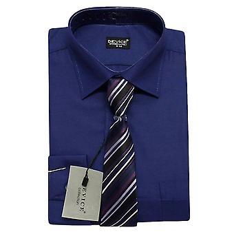 Uomini blu Navy camicia e cravatta Set