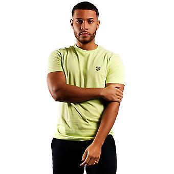 Lyle & Scott Crew Neck Mens Plain T-Shirt - Sharp Green-S