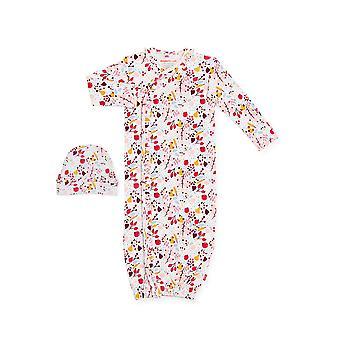 المغناطيسي لي™ 100٪ العضوية القطن ثوب الطفل ومجموعة قبعة