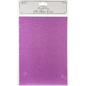 Craft Konsortium Glitter Kort A4 Fuchsia Pink