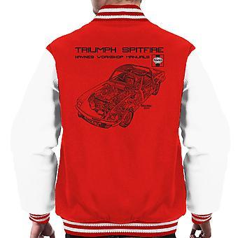 Haynes propietarios taller Manual 0113 triunfo Spitfire negro Varsity chaqueta de los hombres