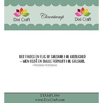 Dixi Craft Danish Text 3 Clear Stamp