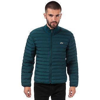 menn's lacoste kombinerbar lett vattert zip jakke i grønt