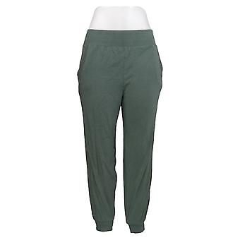 AnyBody Women's Pants Cozy Knit Ribbed Jogger Green A365604