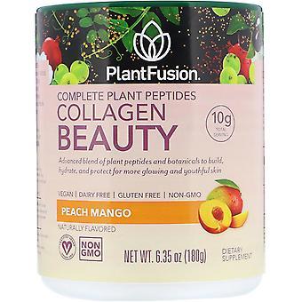 PlantFusion, Complete Plant Peptides, Collagen Beauty, Peach Mango, 6.35 oz (180
