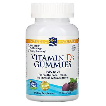 Nordische Naturals, Vitamin D3 Gummies, Wildbeere, 1.000 I.E., 60 Gummies