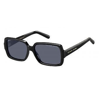 Sonnenbrille Damen    rechteckig schwarz/grau