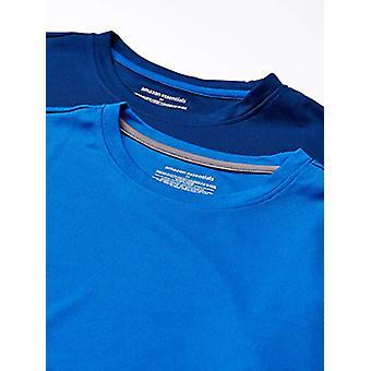 Essentials Men's 2-Pack Performance Tech T-Shirt, Royal Blue/Navy, Small