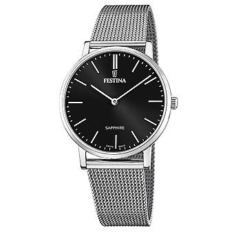 Festina swiss made watch for Analog Quartz Men with stainless steel bracelet F20014/3