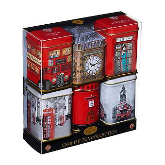 London sights mini tea tin gift set with loose-leaf tea