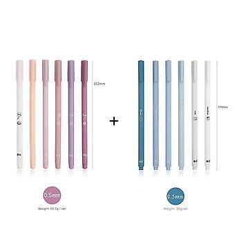 6pcs / مجموعة الإبداعية لطيف Morandi بسيطة صغيرة هلام جديد القلم لKawaii سريعة