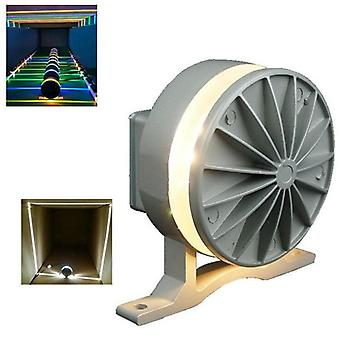 Colorful Spotlight 360 Degree Led Window Outside Wall Washer Curved Line Into