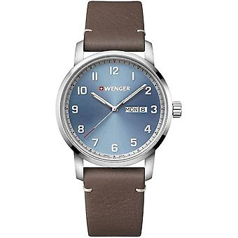 Wenger - Wristwatch - Men - Attitude - 01.1541.118 - blue, 42 mm