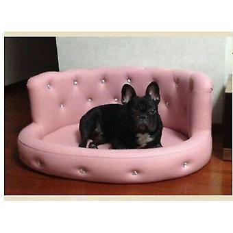 Luxe Droom Diamante Dog Bed Pink