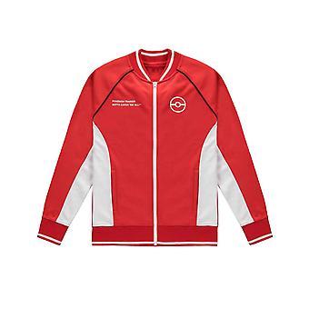 Pokemon Jacket Trainer Track Poke Ball Logo nieuwe officiële Mens Red Zipped