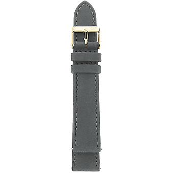 Gv2 By Gevril GV218.16.12.9 Yellow Gold IP Buckle Grey Suede Leather Strap