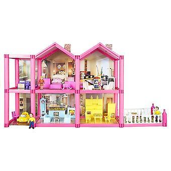 Puppenhaus für Kinder mit Zubehör 136 Stück
