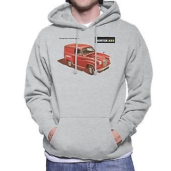 Austin A35 Goods Space British Motor Heritage Men's Hooded Sweatshirt