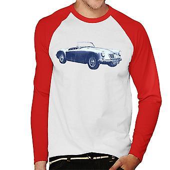 MG MGA 1962 British Motor Heritage Men''s Baseball Long Sleeved T-Shirt