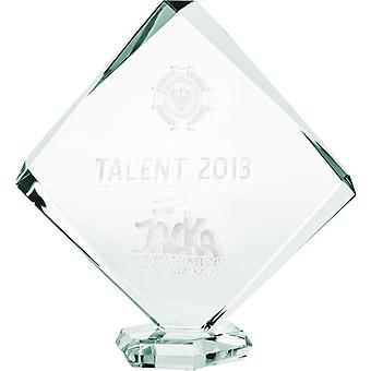 Troféu de vidro gravado em 3D - 22 cm