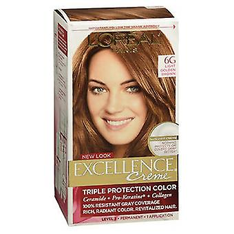 L'oreal LOreal Excellence Triple Protection Permanent Hair Color Creme, Light Golden Brown Warmer 1 each