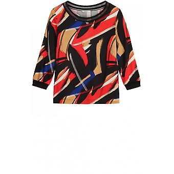 Sandwich Clothing Red Bold Design Blouse