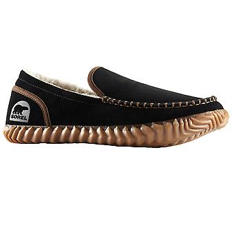 Sorel Dude Moc Slippers - Black / Black