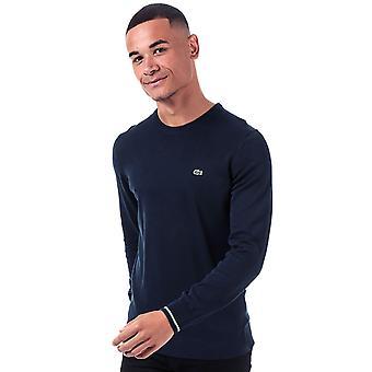 Lacoste men's navy knit sweatshirt