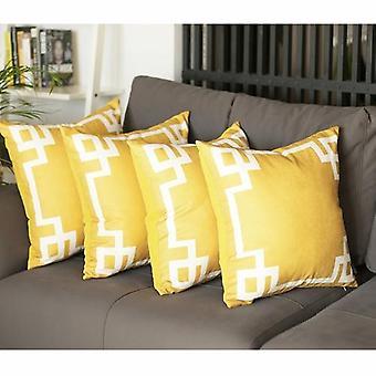 Ensemble géométrique de couverture d'oreiller