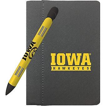 """1139M, Lápiz de saludo Iowa Hawkeyes 4"""" X 6"""" Notebook y 1 juego de plumas de mensaje giratorio (1139M)"""