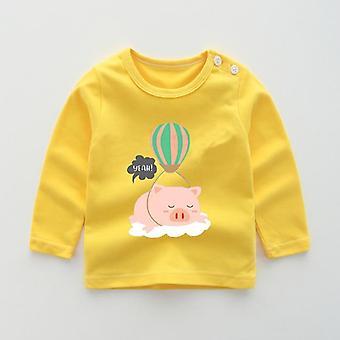 Felpe autunno bambino, ragazze ragazzi cotone cartone animato animali stampa neonati