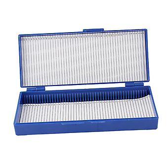 Sourcingmap® royal blue plastic 50-place microslide slide microscop cutie