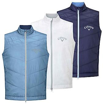 Callaway Golf Mens Performance Tour Logo Stretch Quilted Puffer Vest
