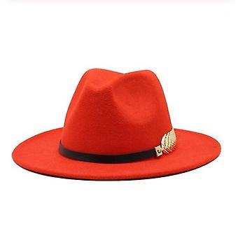 Special Felt Hat Men Fedora With Belt Women Vintage Trilby Caps Wool Warm Jazz